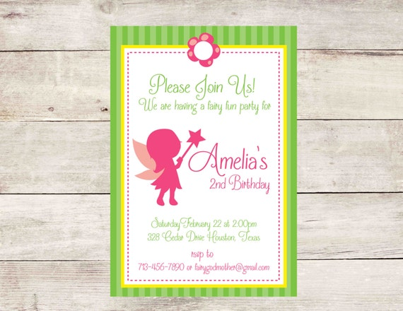 Fairy birthday invitation fairy birthday party invitation fairy il570xn stopboris Choice Image