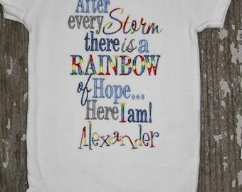 Rainbow Baby Boy Embroidered Shirt