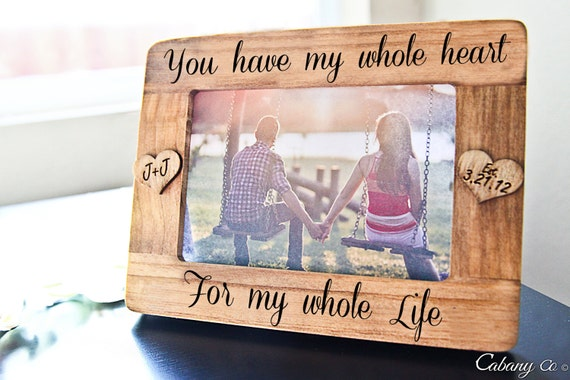 Personalized Picture Frame Engraved Frame for Couple ~ Engagement, Anniversary, Wedding Gift, Gift for Couple, Valentines Day, Mothers Day
