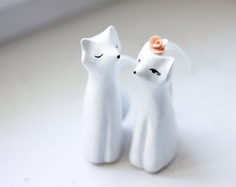Wedding Cake Topper , Love Foxes, Fox Cake Topper