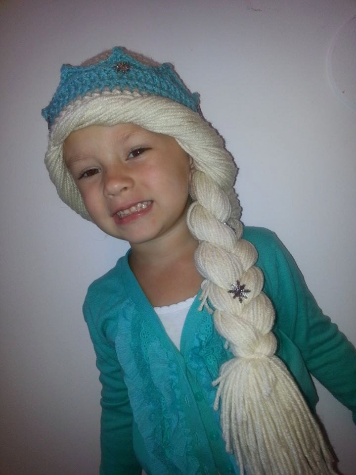 Free Crochet Pattern Frozen Elsa Hat : Frozen Inspired Elsa Hat Crochet Pattern size 1-3 4-6 and