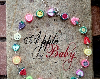 Baby, toddler, kids, jewelry, necklace, fruit, summer