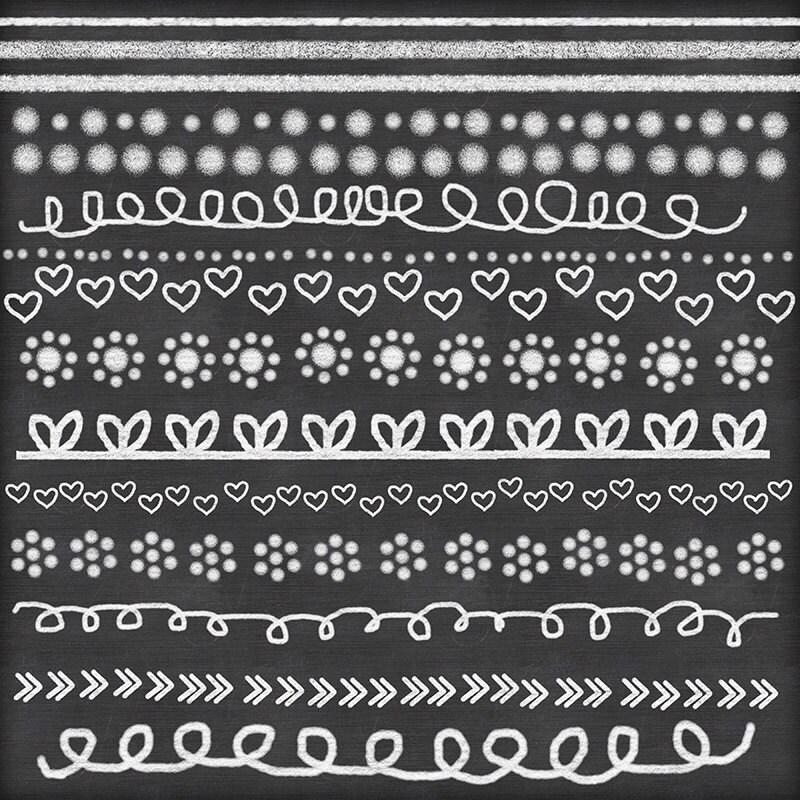chalk clipart doodle chalk borders lines hand drawn chalk clip