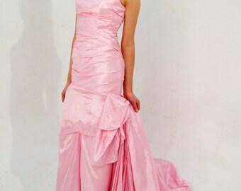 Custom made 'Monica' Strapless figure-hugging mermaid wedding gown bridesmaid dress prom evening