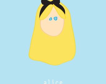Alice in Wonderland:  5x7 digital file