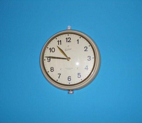 Orologio da muro autentico lecastel vintage anni di for Orologio muro vintage
