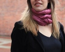 """Sale! Solid Color Scarf on Merino and Angora Blend,winter scarf,scarf,Christmas gift idea-"""" Evening Rose"""""""