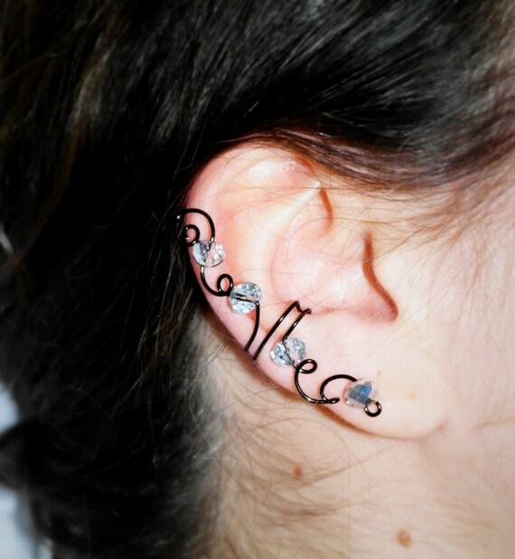 Articoli simili a orecchino ear cuff a cartilagine finto for Piercing orecchio dilatatore