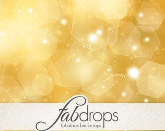 Christmas Photography Backdrop Gold Bokeh Photo Background - Winter Holiday Drop (FD0022)