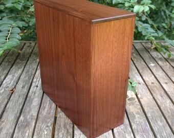 Hand Made Black Walnut Bookshelf / Scattering Cremation Urn