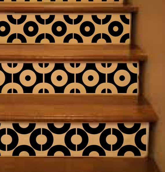 Mod Vinyl Stair Tile Decals . Atomic Age Style By Crowbabys