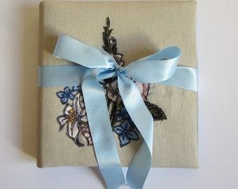 Custom made embroidered wedding photo album