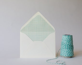 crosshatch lined envelopes  (set of 10) - available in 9 colors!