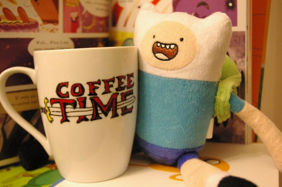 Coffee Time! - Adventure Time Mug - Hand painted coffee mug
