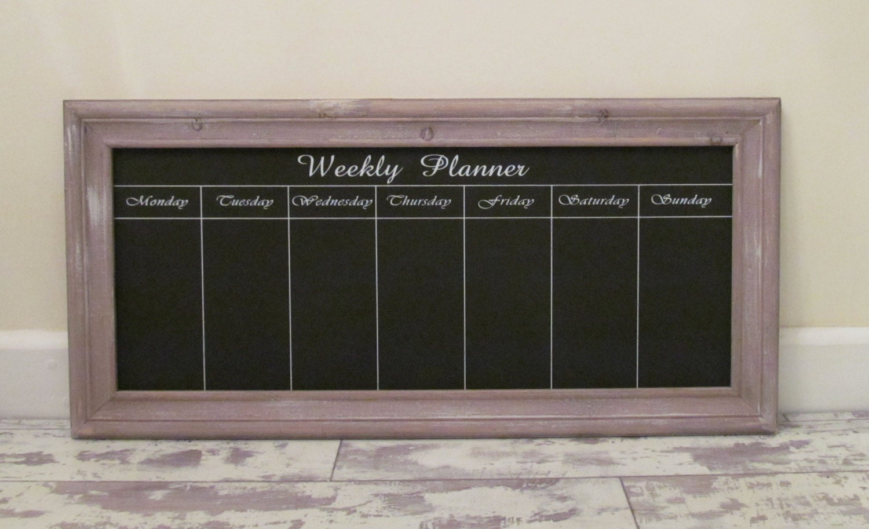wei gro e wochenplaner wand tafel memo board von lylaroze. Black Bedroom Furniture Sets. Home Design Ideas