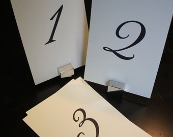 Wedding Event Table Numbers 1-50, Printable PDF Instant Download