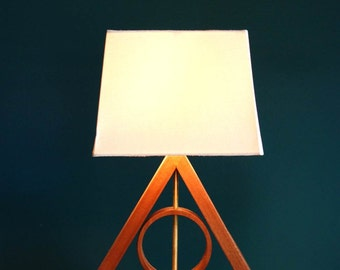 Harry Potter Deathly Hallows Table Lamp Harry Potter Kids Lamp Living Room Lamp Geometric Lamp Master of Death