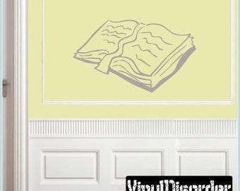 Playbook - Vinyl Wall Decal - Wall Quotes - Vinyl Sticker - BookopenvET