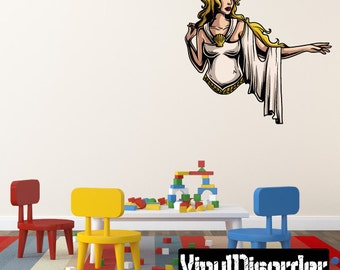 Greek God Athena Wall Decal - Wall Fabric - Vinyl Decal - Removable and Reusable - GreekGodUScolor019ET