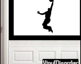 Lay Up Basketball Vinyl Wall Decal or Car Sticker - basketballst008ET