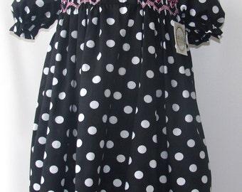 Smocked Monogram dress, Smocked Dress, Personalized Dress, smocked girls dress, Smocked Birthday Dress, Birthday Dress 3T,4T,5T