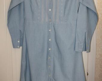 Eddie Bauer Soft Blue Cotton Dress