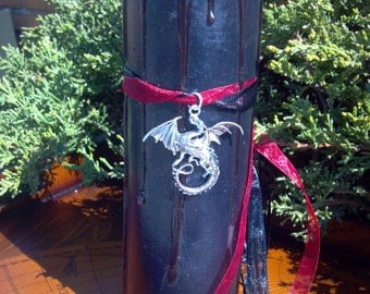 Dragon Candle, Dragons Blood Candle, Dragon's Blood, Jabberwocky, Jabberwocky Alice in Wonderland, Game of Thrones Dragon, Jabberwock Candle