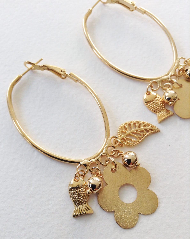 bohemian earrings gold chandelier earrings dangle earrings