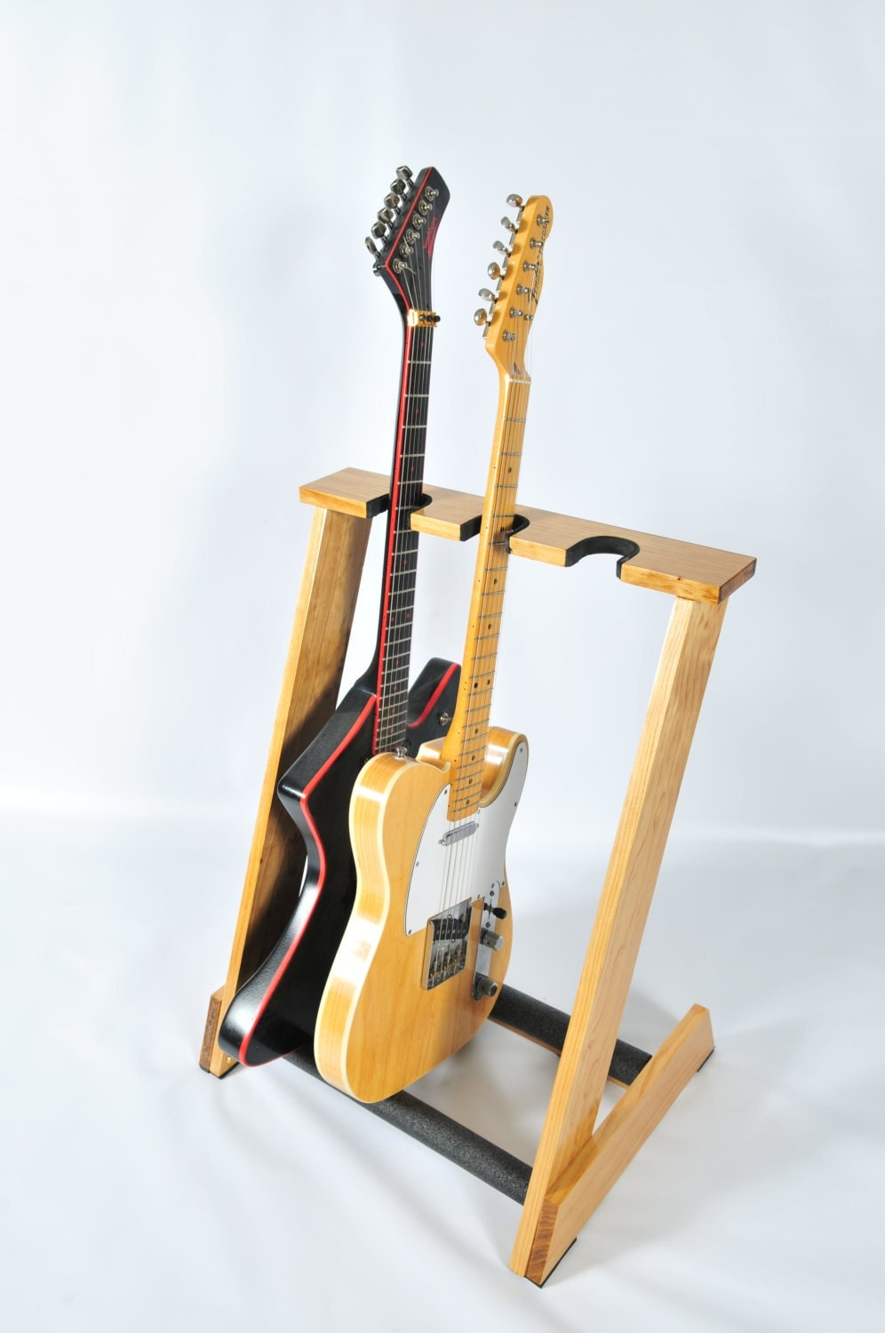 Guitar Stand Designs : Handcrafted wooden guitar stand from allwood stands display