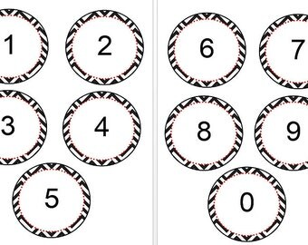Printable Numbers with Chevron Background ~ for Bulletin Boards and more   ~