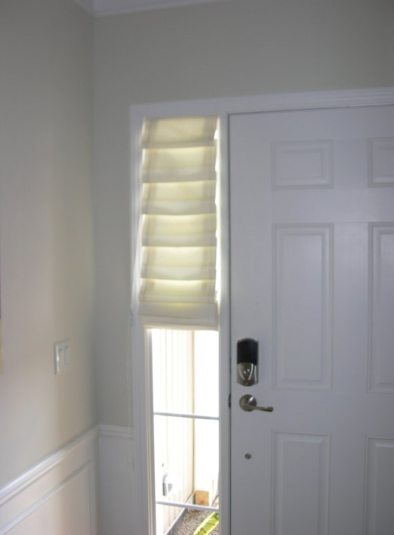 Soft Folded Shade For Side Light Front Door Fabric Included