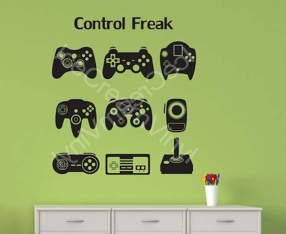 Gamer Gifts | Video Game Decal | Vinyl Wall Decal | Gamer Girl Gift | Geek Gifts | Man Cave Kids Room