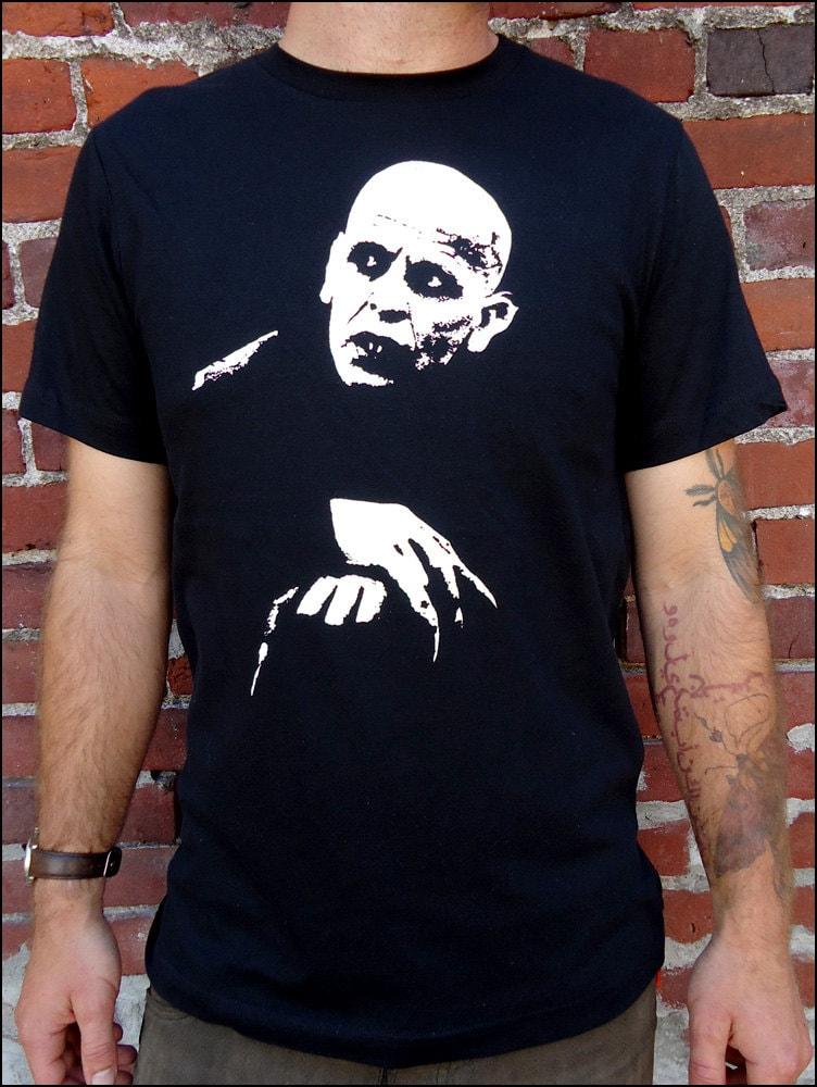 Nosferatu lurking men 39 s tshirt by bloodandgarlic on etsy for Werner herzog t shirt