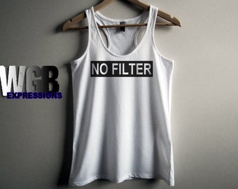 No filter womans tank top white