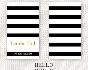 Personalized Business Card: Mod Stripe