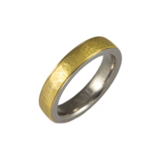 Mens wedding band 24k gold wedding band mens two by for 24k gold wedding ring