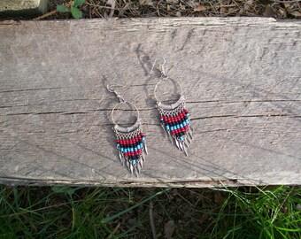 Vintage Beaded Hanging Earrings
