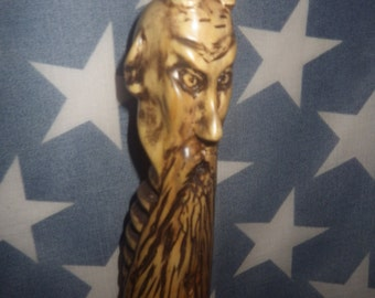 C.L. Krampus -Handcrafted Wood Staff inspired by the Krampus folklore
