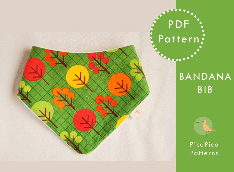 bandana bib tutorial pattern