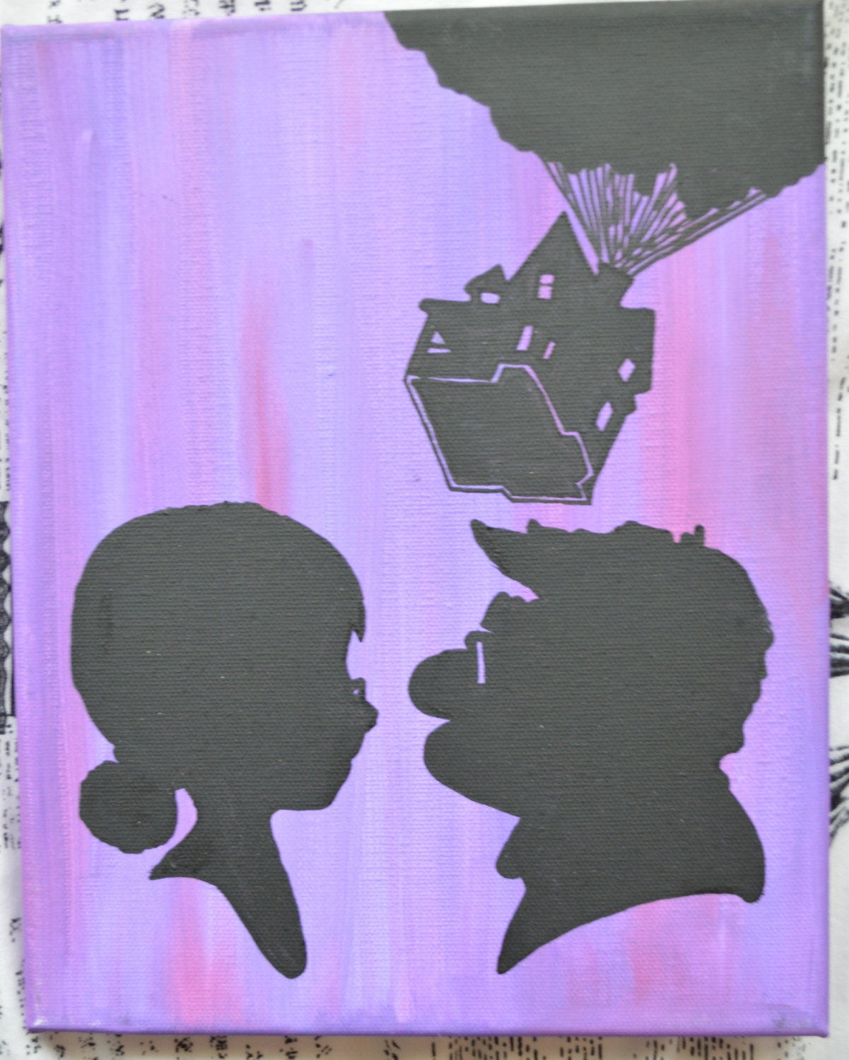 Disney S Up 8x10 Canvas Silhouettes