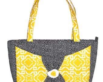 Monday Purse PDF Bag Pattern, Tote Bag Pattern, Instant Download Digital Bag Pattern