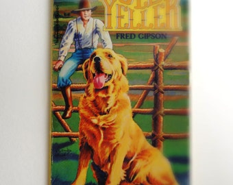 """Vintage 1956 Paperback Book """"Old Yeller"""" by  Fred Gipson, Scholastic Inc."""