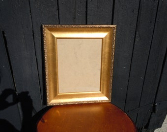 121 - REDUCED- Picture Frame -Distressed -Black and Gold