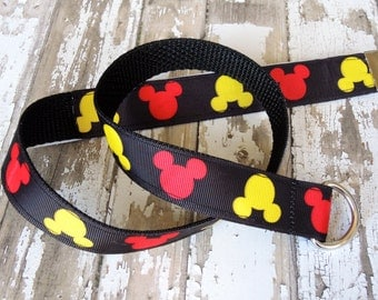 Mickey Mouse, Mickey Mouse Belt, Boys Belt, Baby Belt, Infant Belt, Baby Boy Belt D-ring closure, Baby Boy Clothing, Infant clothing