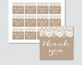 Printable Burlap and Lace...