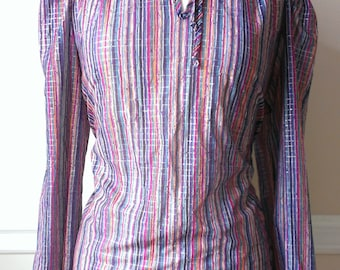 Vintage Multi-Striped Blouse