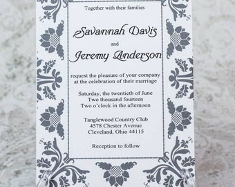 Simply Elegant Wedding Invitation