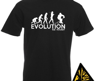 Evolution Of Man From Ape To Ice Hockey T-Shirt Joke Funny