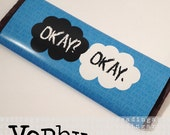 The Fault in Our Stars Quote Hershey Bar Wrapper (TFioS)