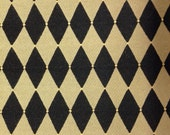 Black and Gold Harlequin Dots Fabric - Upholstery Fabric By The Yard - Home Decor Fabric
